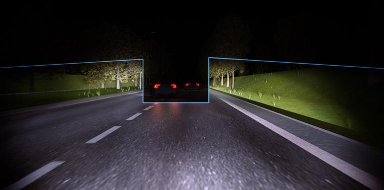 Volvo permanent high beam demonstration