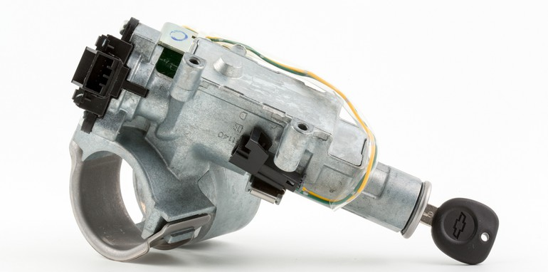 An ignition and start switch assembly. (Photo by John F. Martin