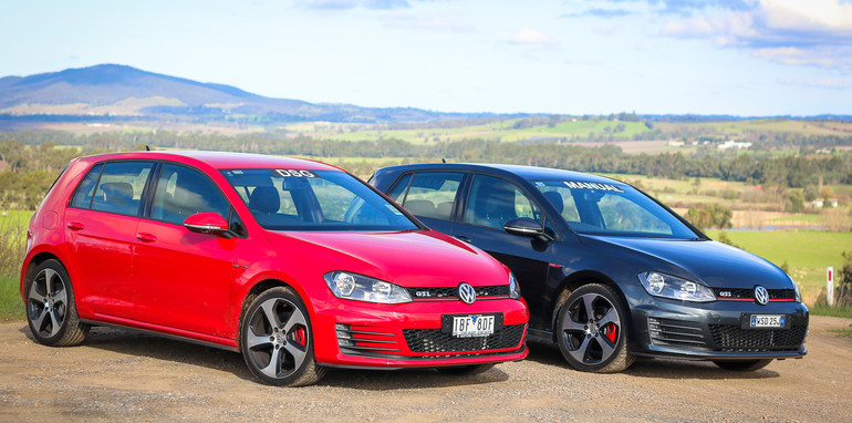 volkswagen golf gti gearbox comparison manual v dsg rh caradvice com au golf 6 r dsg vs manual golf r dsg or manual