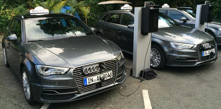 Audi A3 e-tron charging