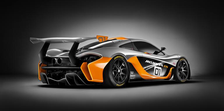 McLaren P1 GTR design concept rear