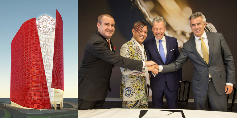 Louis XIII render and Rolls-Royce/Stephen Hung signing ceremony