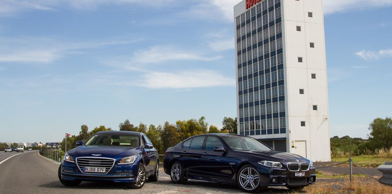 2014-HYUNDAIandBMW-528i-vs-genesis-comparison-67