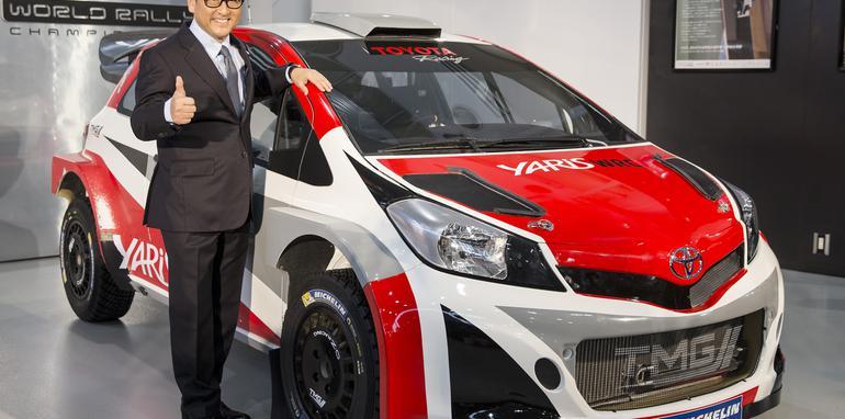 Akio+Toyoda+with+Toyota+Yaris+WRC+carhr