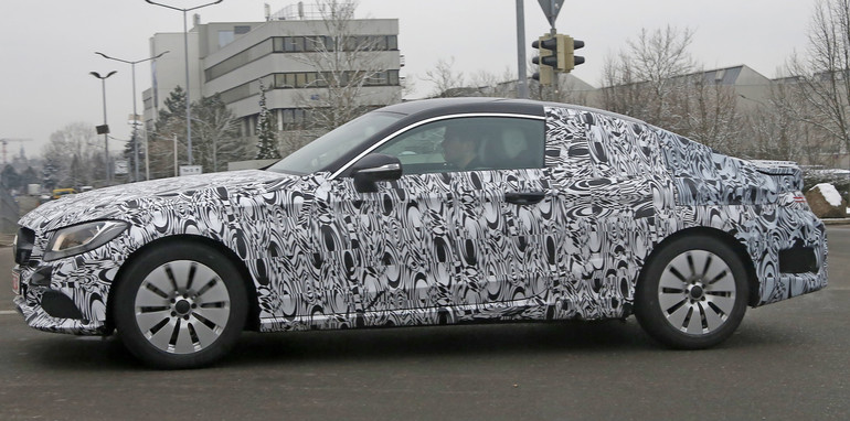 Mercedes C-Class Coupe spied profile