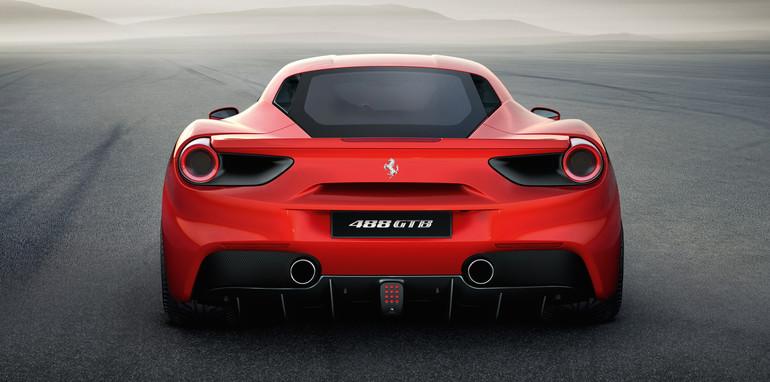 Ferrari 488 GTB rear