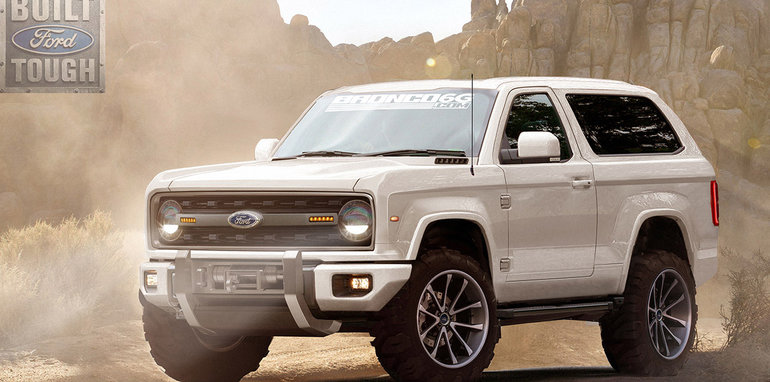2019 Ford Bronco rendered:: get a load of this