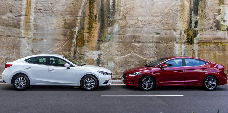 Hyundai Elantra V Mazda 3 Small Sedan Comparison