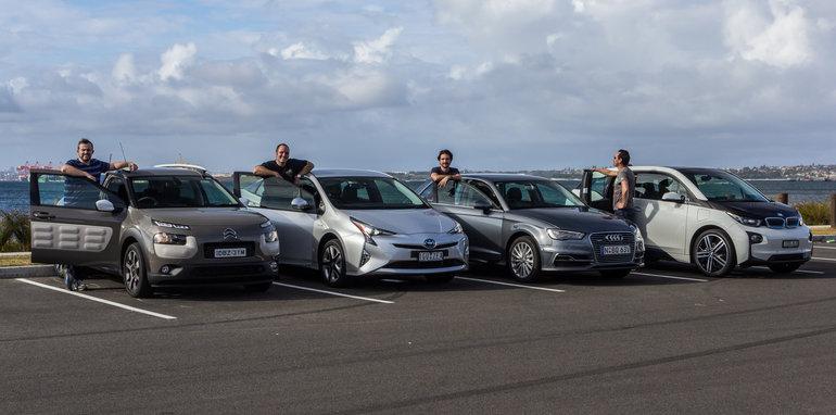 Eco-Test Urban loop - Audi A3 e-tron v BMW i3 v Citroen C4 Cactus v Toyota Prius-54