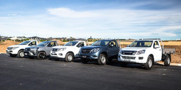 2016 Single-cab ute comparison Isuzu D-Max SX Mazda BT-50 XT Mitsubishi Triton GLX Nissan Navara DX Toyota HiLux Workmate-396