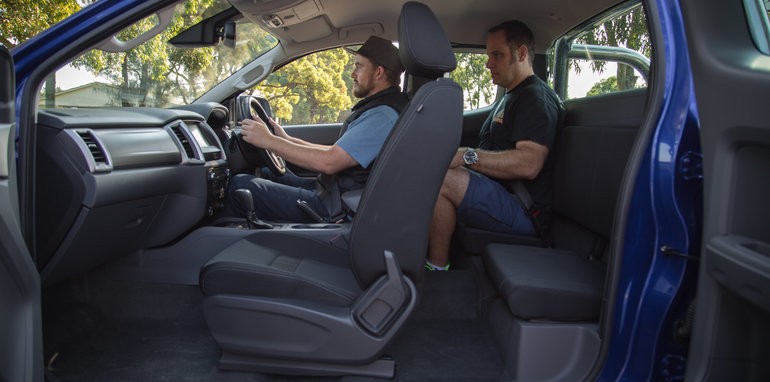 Car Seat In Ford Ranger Extended Cab