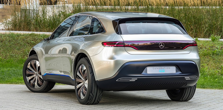 Mercedes benz generation eq revealed electric suv debuts for Mercedes benz service plan