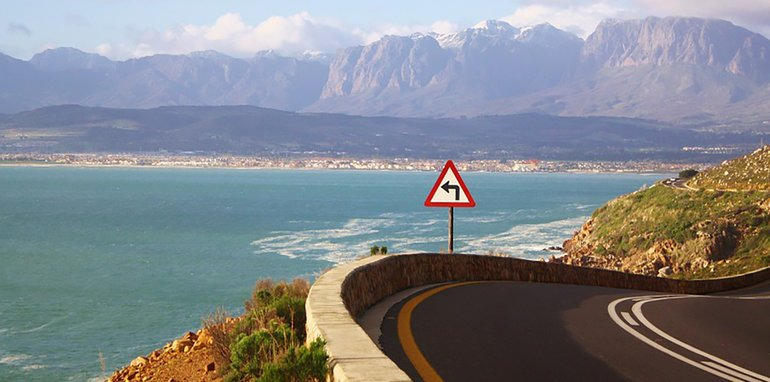 Cape Town Coastal Road Sea South Africa Ocean