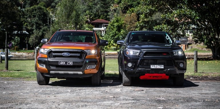 Fair Deal Auto >> Ford Ranger Wildtrak v Toyota HiLux TRD comparison