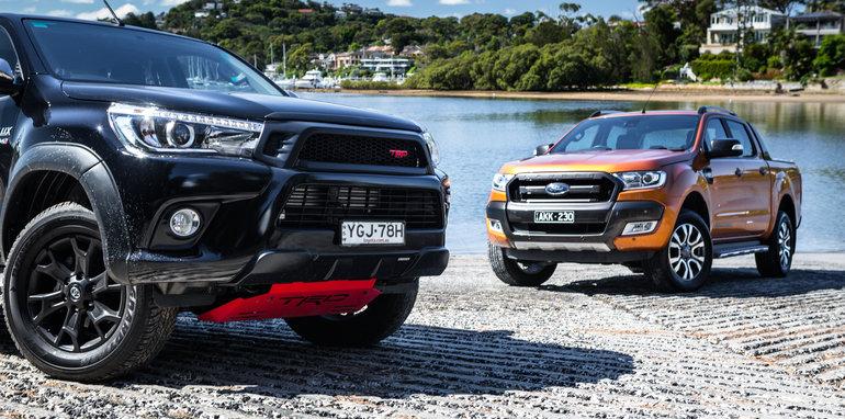 2017 Ford Ranger Wildtrak Vs Toyota Hilux Trd