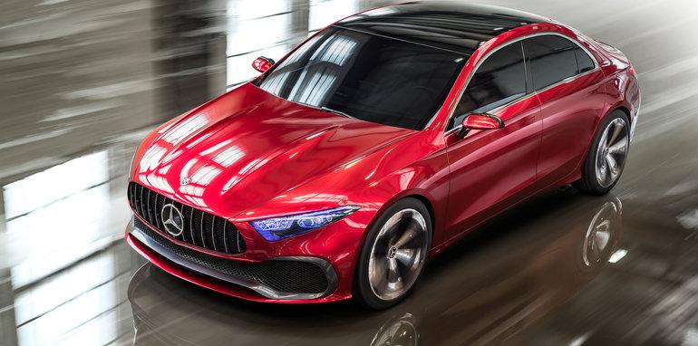 2018 mercedes benz a class sedan concept revealed. Black Bedroom Furniture Sets. Home Design Ideas