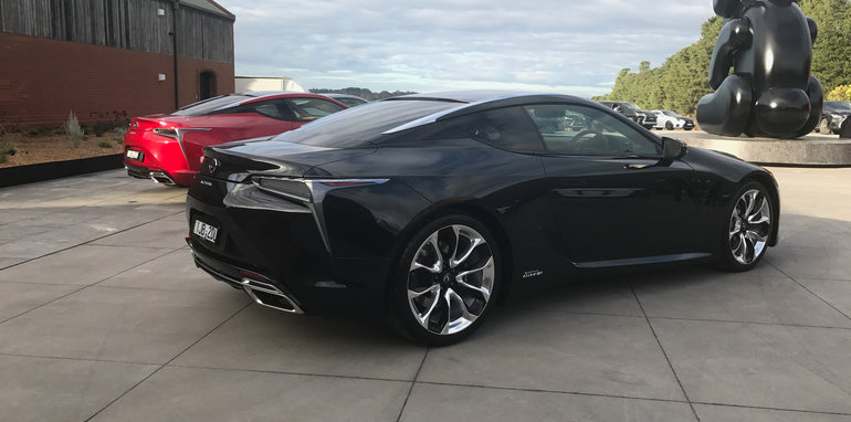 2017 lexus lc500 lc500h pricing and specs luxury sports flagship arrives from 190 000. Black Bedroom Furniture Sets. Home Design Ideas