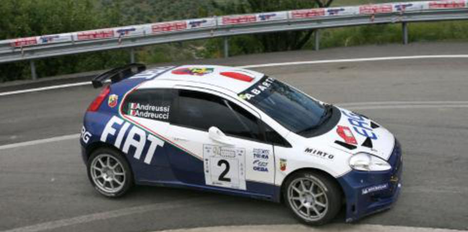 Fiat Punto in full flight