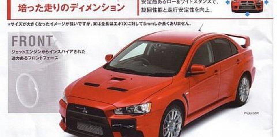 Mitsubishi Evolution X Japanese Brochure