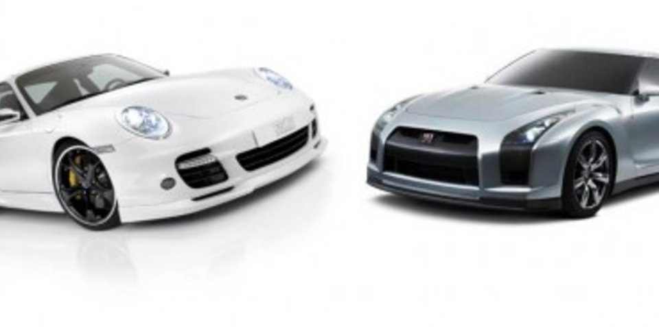 Nissan GT-R .vs. Porsche 911 Turbo on Dyno