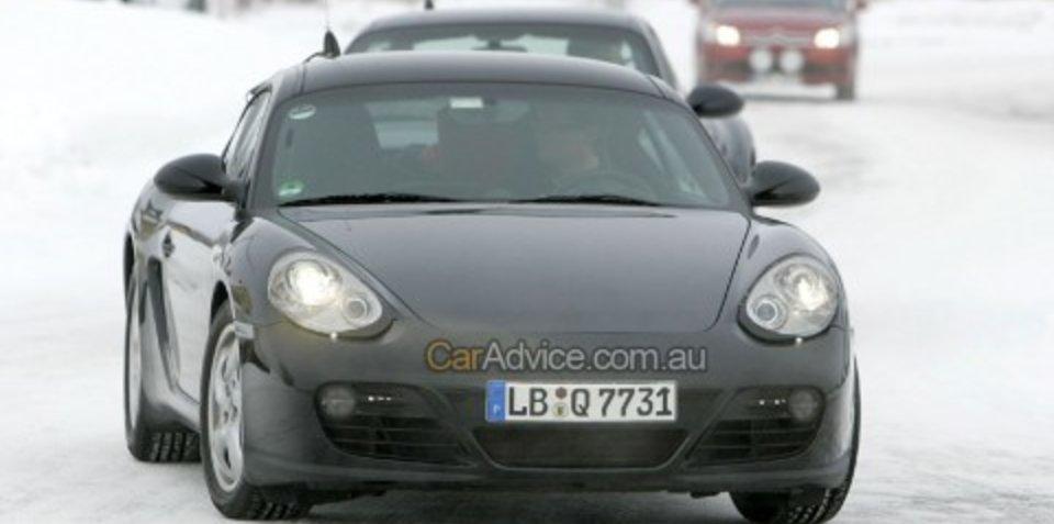 Facelifted Porsche Cayman spy photos