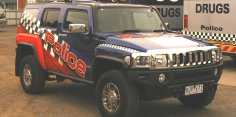 Victoria police Hummer style