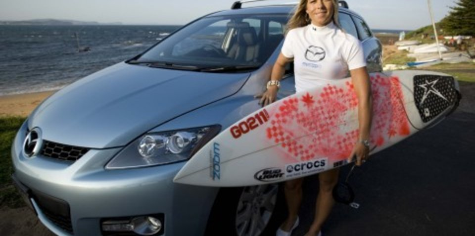 Surf's up for Mazda and Serena Brooke