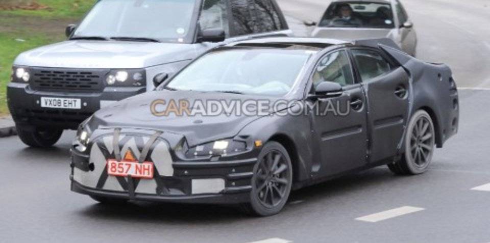 2011 Jaguar XJ prototype spied