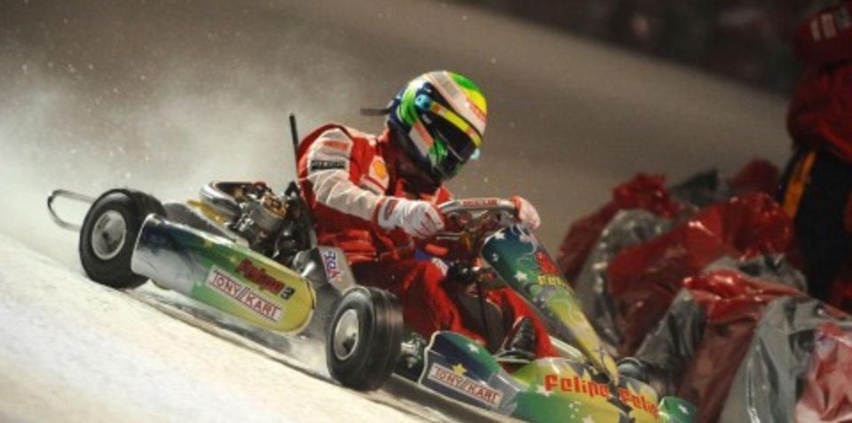 Stoner beats Massa in ice kart race