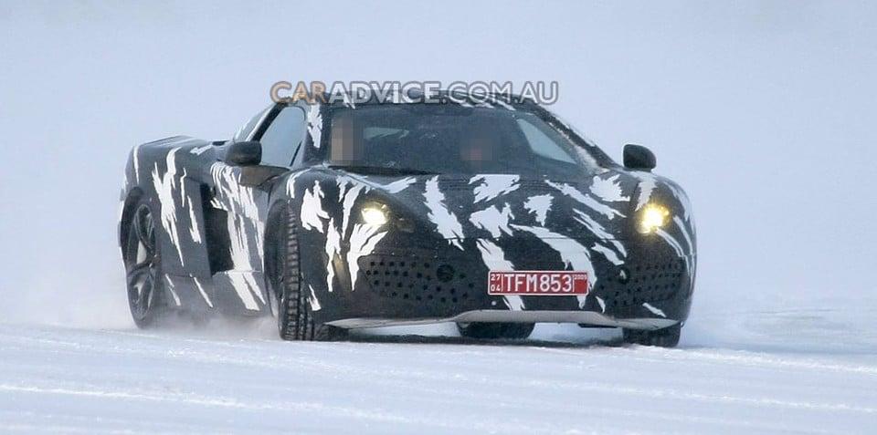 2010 McLaren P11 supercar spied