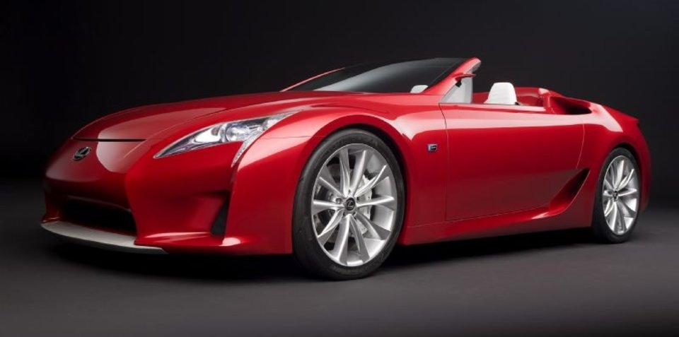 Lexus LF-A prototype enters the 'Ring