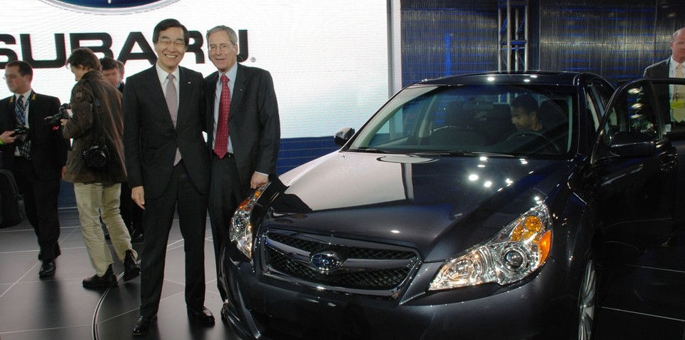 2009 Subaru Outback unveiled in New York