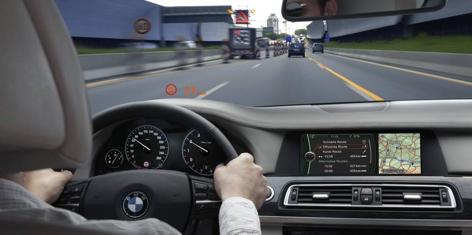 BMW speed limit display begins local testing