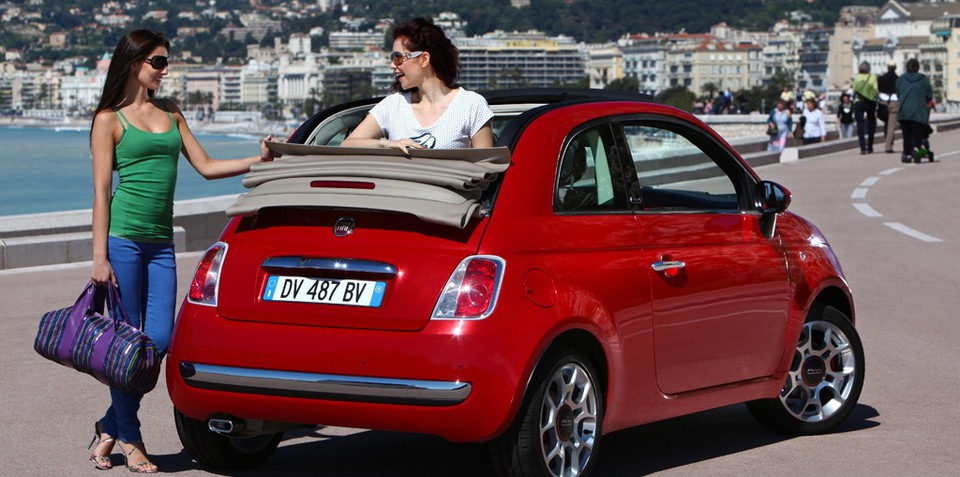 Fiat 500 open top ready for 2010
