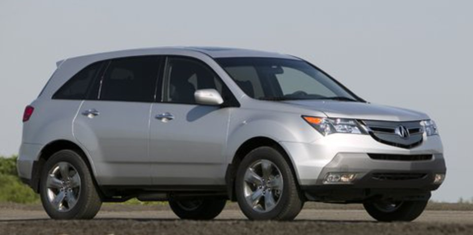 2010 Acura MDX released in the US