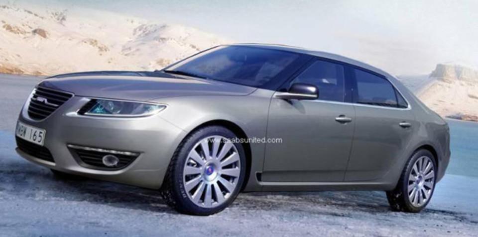 2010 Saab 9-5 spy pics