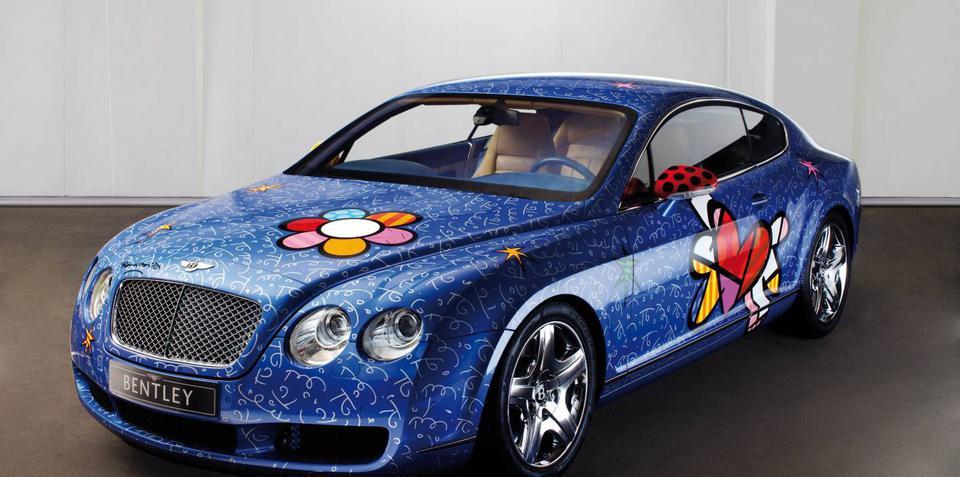 Artist creates Pop Art on Bentley canvas