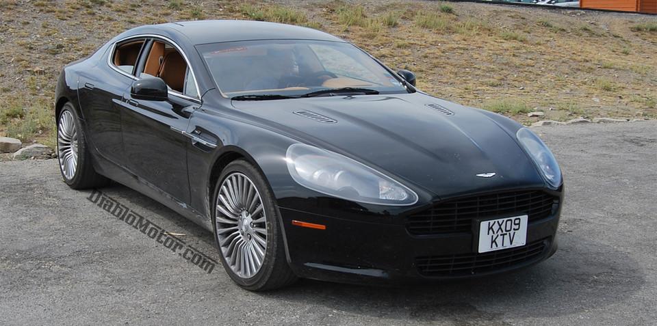 Aston Martin Rapide caught uncovered