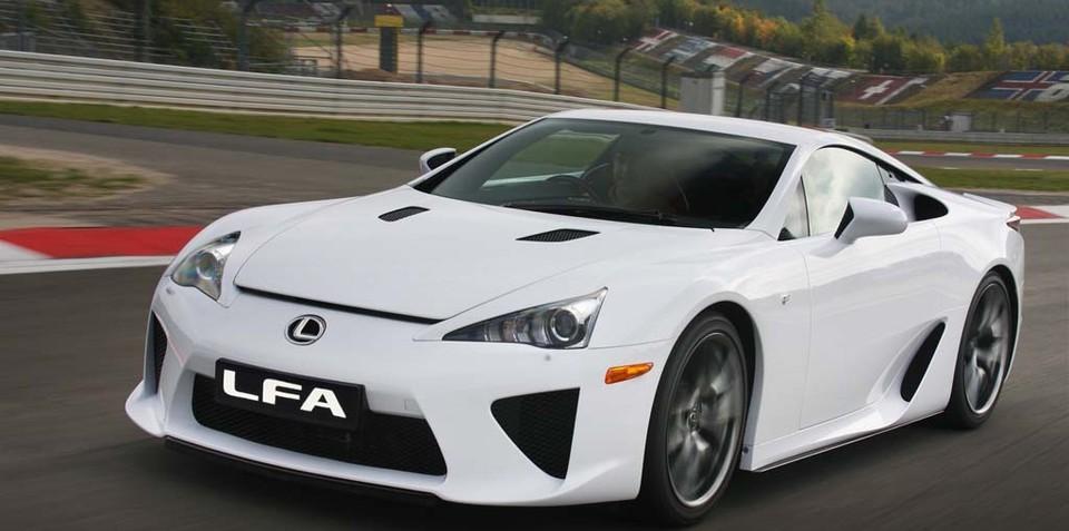 Lexus allocates five LFA supercars for Australia