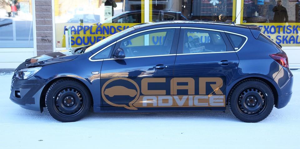 Opel Astra GSi twin turbo-diesel spy photos