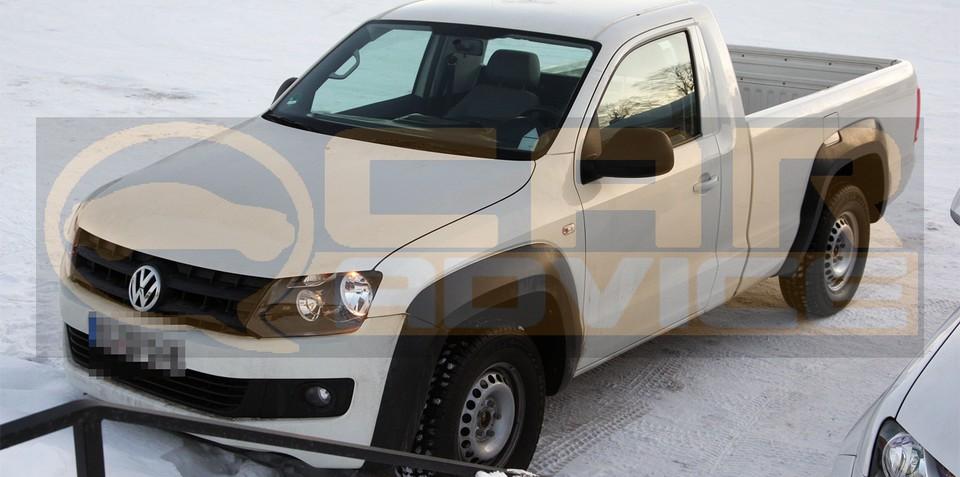2010 Volkswagen Amarok single cab spy photos