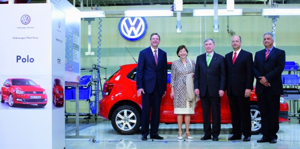 Volkswagen Polo number 11,111,111 rolls off the line in India