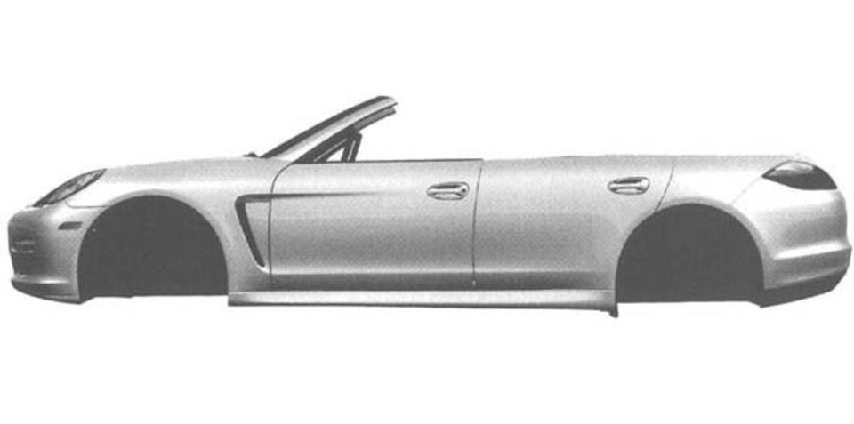 Porsche Panamera Convertible revealed in patent application
