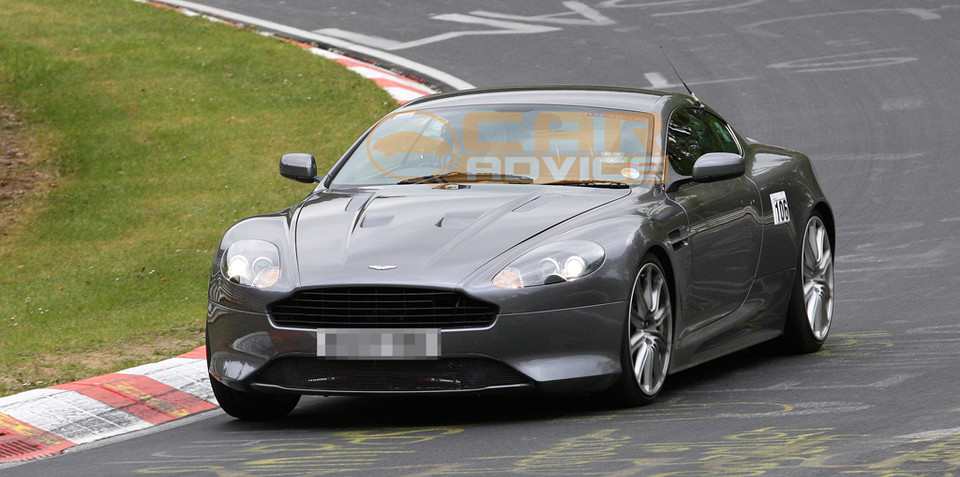 Aston Martin DB9 facelift spied
