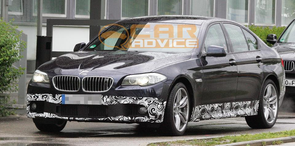 2011 BMW 5 Series M-Sports package spied