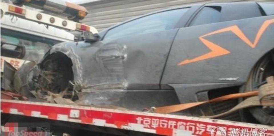 Lamborghini Murcielago SV China Edition Crash