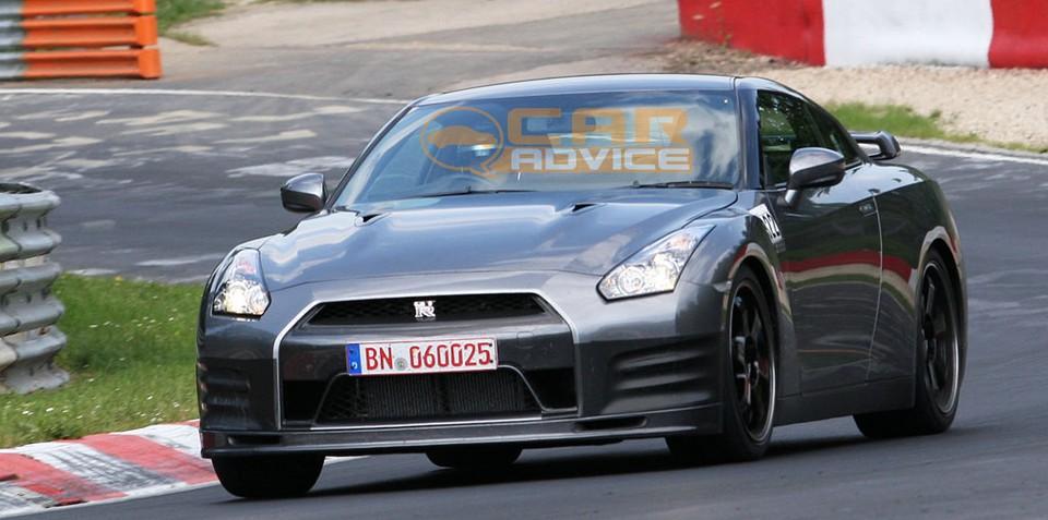 2011 Nissan GTR SpecV spied at the 'Ring