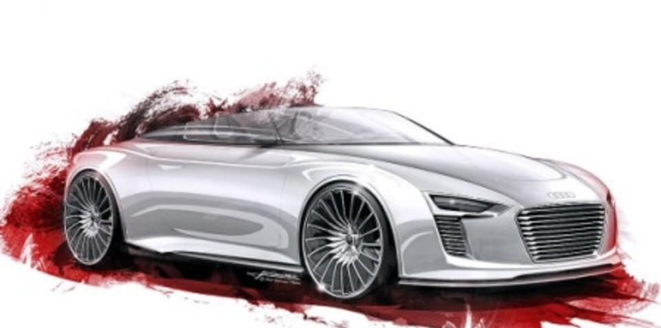 Audi e-Tron Spyder sketches leaked