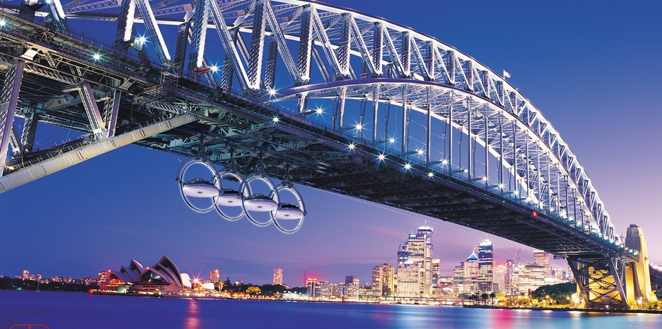 Audi Spectacle advertising campaign to hang cars under famous bridges