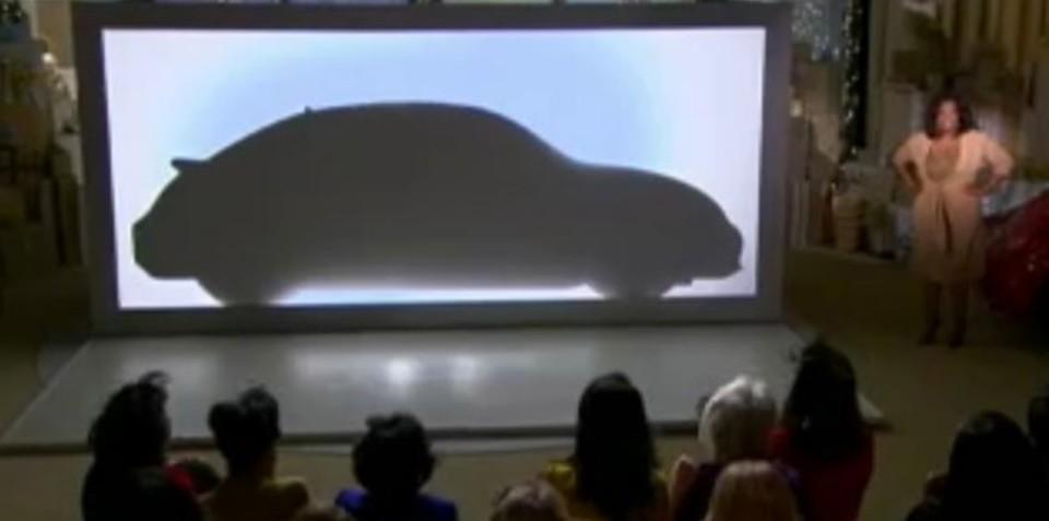 2011 Volkswagen Beetle silhouette revealed on Oprah show